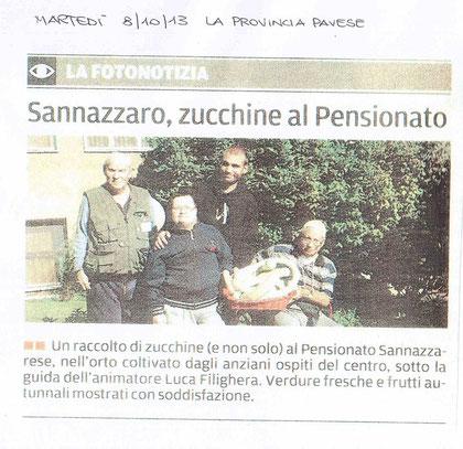 Sannazzaro, zucchine al Pensionato